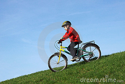Young boy on bike
