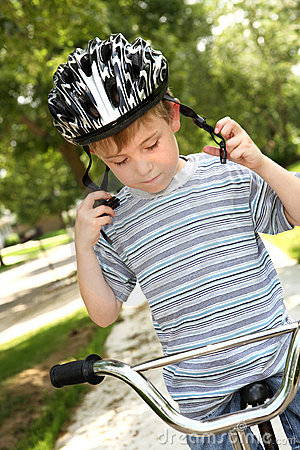 Young boy on a bike