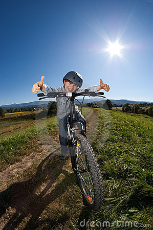 Free Young Boy Cycling Stock Photos - 10945563