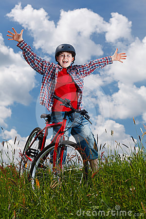 Free Young Boy Cycling Stock Photo - 24304230