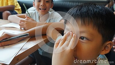 Young Boy Doing Schoolwork Free Public Domain Cc0 Image