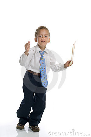Free Young Boy Dressed As Businessman Holds Envelope Royalty Free Stock Photos - 5469518