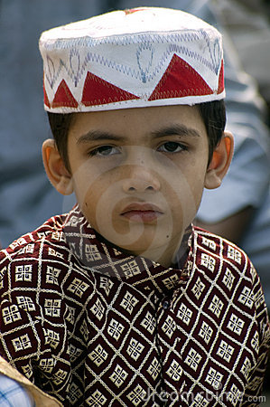 A young boy at Id prayers Editorial Image