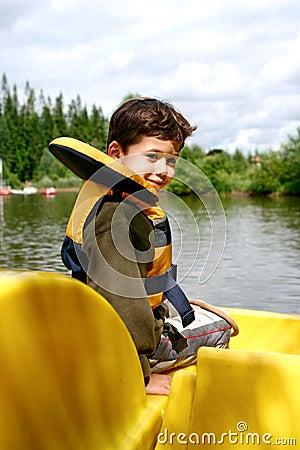 Free Young Boy In Pedalo Stock Photos - 2680933