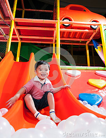 Young Boy In Indoor Playground
