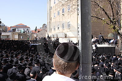 Young Boy at Jewish Funeral