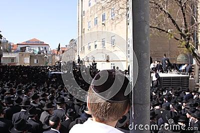 Young Boy at Jewish Funeral