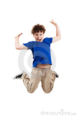 Young boy jumping