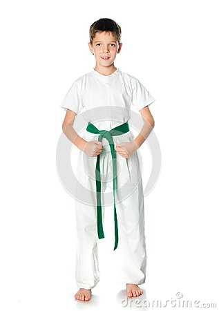 Young boy in kimono