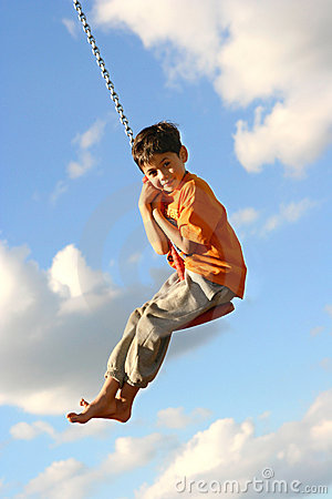 Free Young Boy On Swing Royalty Free Stock Photo - 3416525