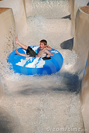 Free Young Boy On Tube Ride Royalty Free Stock Photo - 10645715