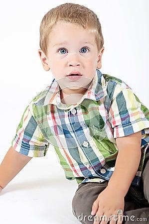 Young boy posing
