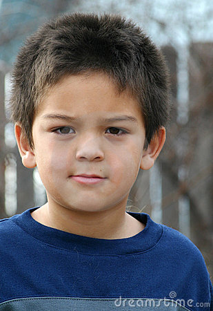 Free Young Boy Serious Stock Photo - 45570
