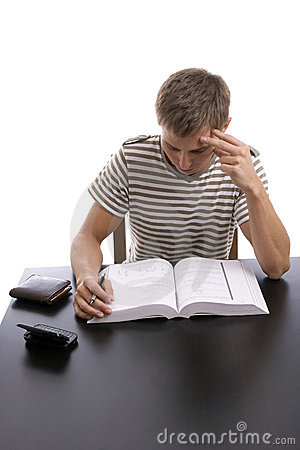 Young Boy Studying Stock Photography - Image: 6987222