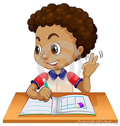 Free Young Boy Studying At Desk Stock Photography - 124391542