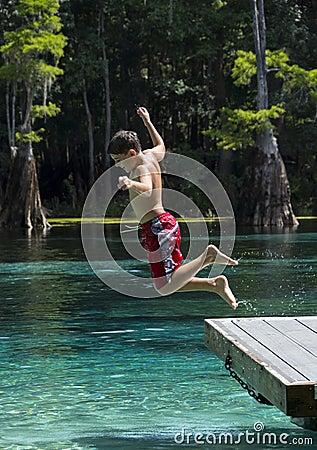 Young Boy Summer Fun - Morrison Springs