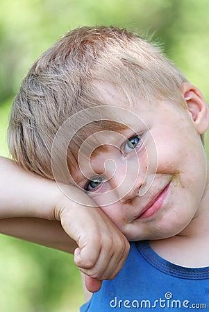 Young boy summer portrait