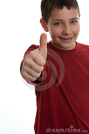 Young boy with thumb up 2