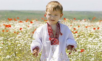 Young boy in traditional clothes