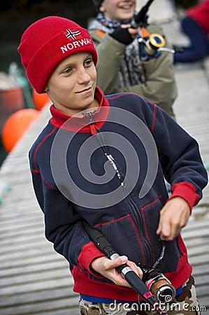 Young boys fishing