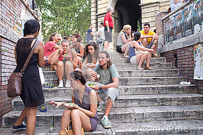 Young boys and girls in Rome Editorial Stock Image