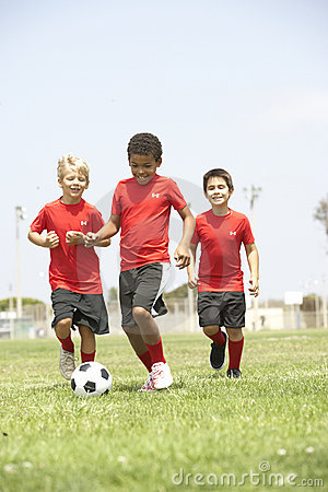Free Young Boys In Football Team Stock Photo - 12406100