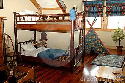 Young boys rustic bedroom