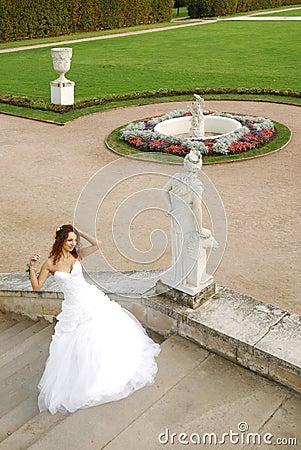 Young bride in Arkhangelskoye estate (XIX century)