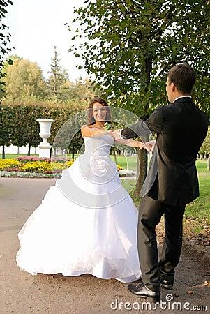 Young bride with bridegroom