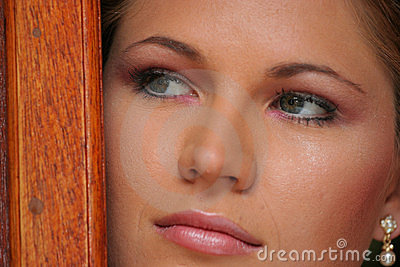 Young bride, close up face