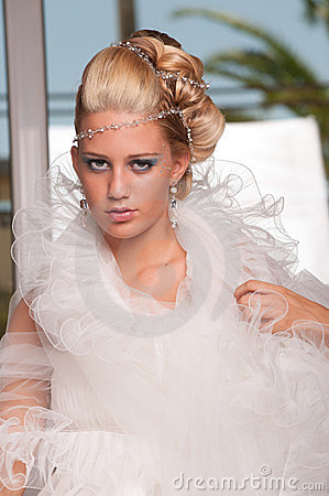 Young bride with makeup