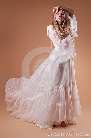 Young bride in studio