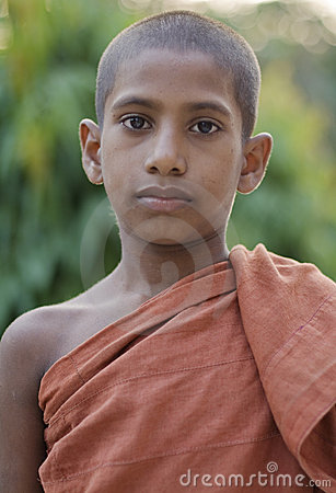 Young buddhist monk Editorial Stock Image