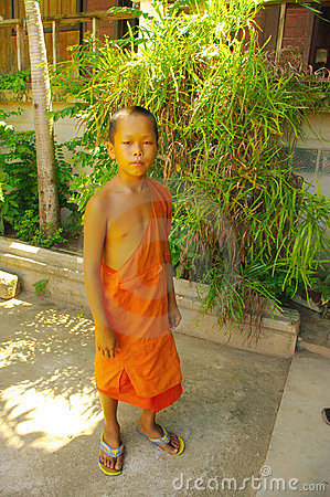 Young Buddhist monk Editorial Photography