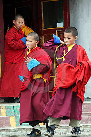 Young buddhist monk in ulan bator in mongolia Editorial Stock Photo