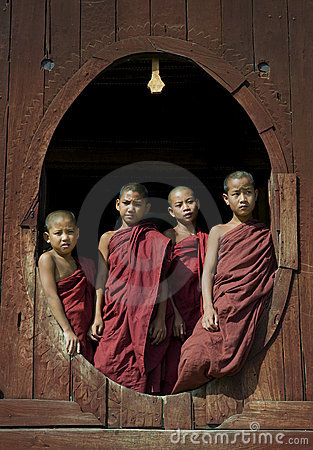 Young Buddhist Monks 1 Editorial Photography