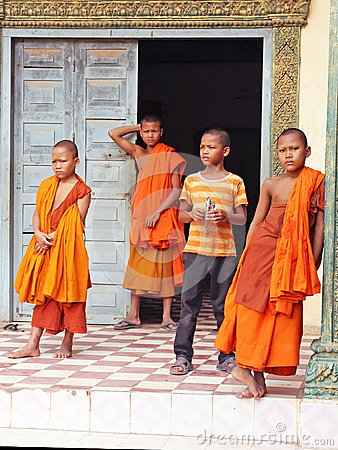 Young Buddhist Monks Editorial Photography