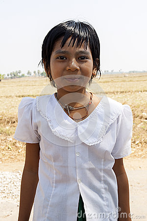 Young Burmese Girl Editorial Stock Photo