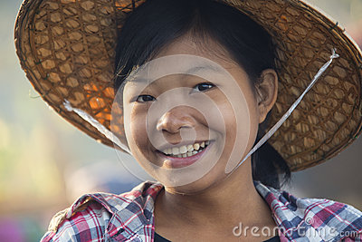Young Burmese Woman - Myanmar (Burma) Editorial Stock Photo