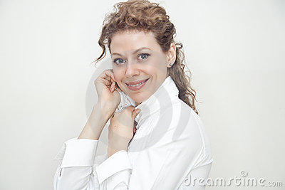 Young business lady smiling portrait