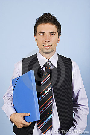 Young business man with folder