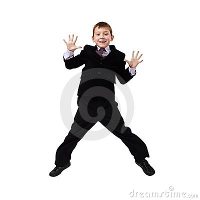 Young Business Man Jumping Stock Photo - Image: 12065890