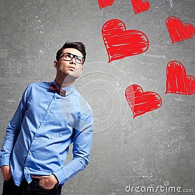 Man thinks at love
