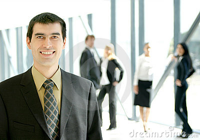 A young business man in a modern office