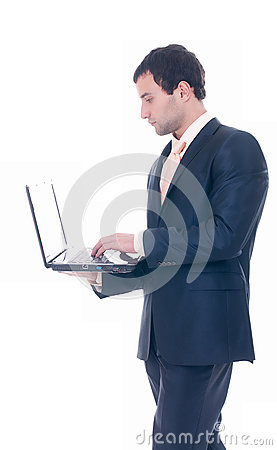Young business man with notebook