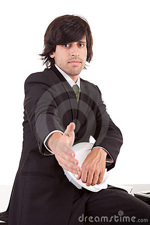 Young Business Man Offering Handshake Royalty Free Stock Images - Image: 22605359