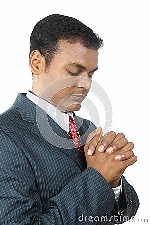 Young Business Man Praying
