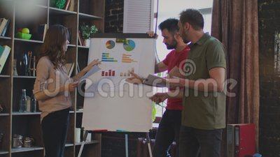 young business people argue about business plan on white board in office  stock footage - video of quarrel, coworkers: 119896522