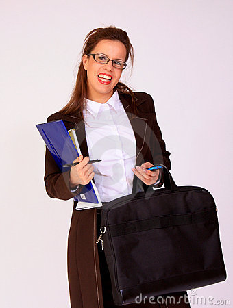 Young business woman with a eyeglasses