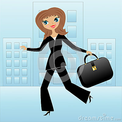 Free Young Business Woman Hurry On Work Royalty Free Stock Photos - 37345968
